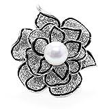 0abb653ad41c Merdia Broche de broche de flores brillantes para las mujeres con cristal  creado hermoso