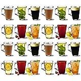 Vasos de café latte - 250ml (8.8oz) - Caja de regalo de 24