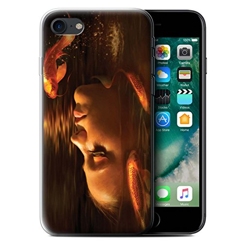 Officiel Elena Dudina Coque / Etui Gel TPU pour Apple iPhone 7 / Sous-Marin Design / Agua de Vida Collection Poissons d'Or