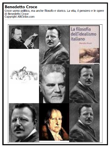 Benedetto Croce. La vita, il pensiero e le opere.