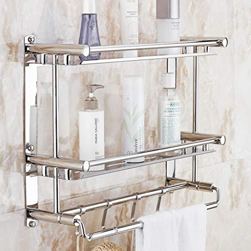 Kitchen furniture - Porte-serviettes en acier inoxydable, poinçonnage gratuit, étagère de salle de bains, support mural, coin de rangement WXP (taille : 60 * 15 * 38cm)