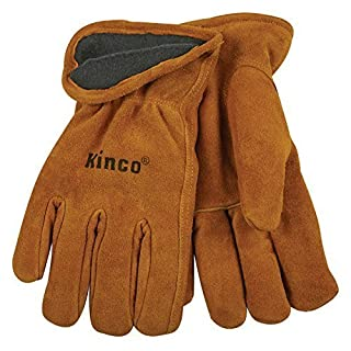 Kinco 50RL Men's Lined Suede Cowhide Leather Gloves Thermal Insulation, Work, Medium by Kinco International