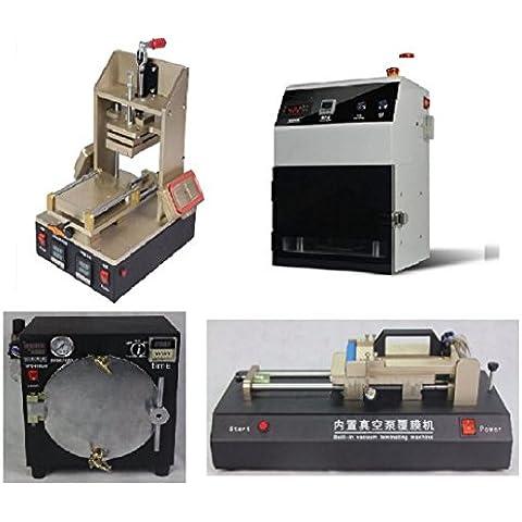 Separador GOWE Infratex removedor de pegamento marco laminación 5-in-1 Machine + tallerheels plastificado electroestimulación + removedor de burbuja máquina + OCA plastificado