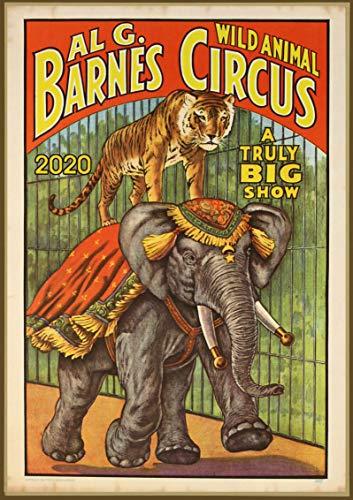 Pixiluv 2019 - Calendario de Pared (12 páginas, 20,32 x 27,94 cm), diseño de Elefante de Circo