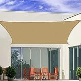 immagine prodotto Outsunny – Tenda a Vela Parasole Rettangolare Tenda da Sole Protezione Raggi UV in PE 4 x 6m