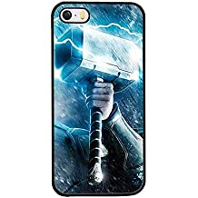 Iphone 5s Funda Case, Thor Hammer Marvel Dust Proof Slim Ultra Thin for Iphone 5 / 5s