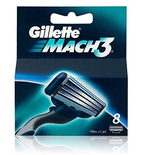 Gillette MACH38Stück Rasiermesser Klingen–Mach 3echten
