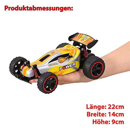 RC Auto kaufen Crawler Bild 5: Aandyou Ferngesteuertes Auto,RC Auto 1:18, High Speed RC Off Road Auto, 2.4 GHz 4WD Monstertruck für Kinder (Schwarz)*
