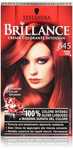 Testanera Brillance, Crema Colorante Intensiva, 845 Rosso Raso - 1 Confezione