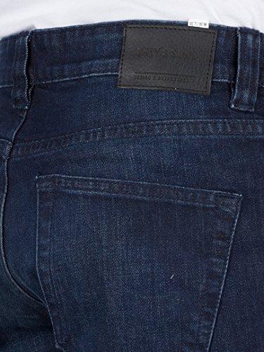 Only & Sons Herren Einschlag 4364 Regular Fit Jeans, Blau Blau