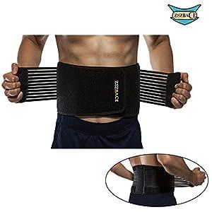 ZSZBACE Rückenbandage Rückengurt für Männer und Frauen, Rückenschmerzen Reduzieren, Verstellbar Rückenstützen