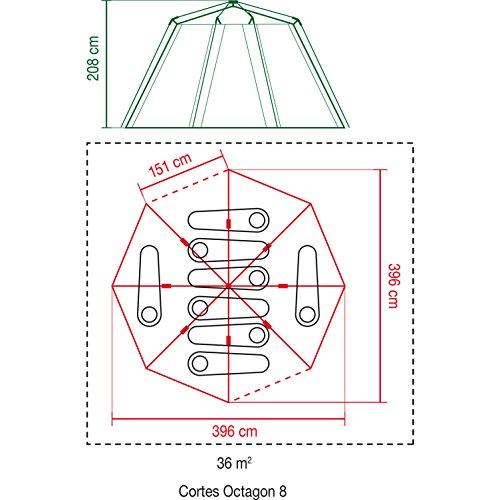 Coleman Zelt für 8 Personen Octagon 8 mit 7 Fenstern und patentierter D-Tür (Wasserdicht WS 2.000 mm) - 3
