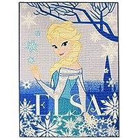 Associated Weavers 621918 Tapis La Reine des Neiges Elsa Polyamide Bleu 133 x 2 x 95 cm