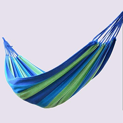 XY&CF Hamac, extérieur Siesta Camping Suspendus Tissu hamac intérieur Maison Multifonctionnel (Couleur : B, Taille : 200 * 80cm)