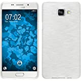 Coque en Silicone pour Samsung Galaxy A5 (2016) A510 - brushed blanc - Cover PhoneNatic Cubierta + films de protection