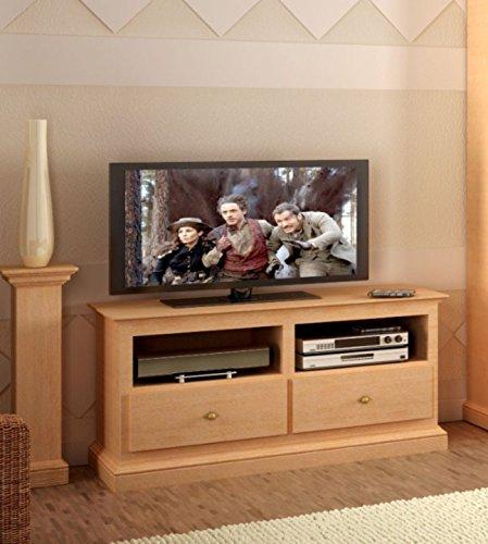 casamia TV-Lowboard Grande klein 118 cm breit, Pinie massiv, Pinie lipizano, One Size