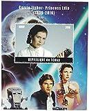 Briefmarken für Sammler–perforfated Stempel Blatt mit Star Wars/carrie Fisher als Prinzessin Leia von 1956–2016/Tchad