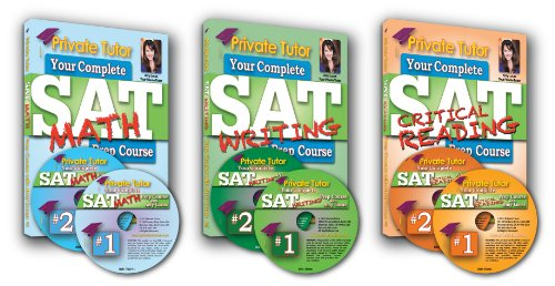 Private Tutor - Complete SAT Prep Course - 3 Books & 6 DVDs - Student Version: Complete Interactive Course with Amy Lucas