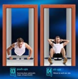 LOO LA Door Bar Pull Up Bar, Adjustable Door Horizontal Bars Übung Chin Up Pull Up Training Bar Sportgeräte (2PCS),SectionB,83cm