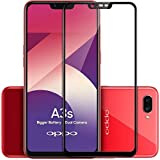 Elica - Oppo A3s - 5D Tempered Glass | Premium Full Front Body Cover | Edge to Edge Screen Guard Protector - Black