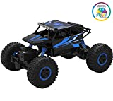 #4: Smiles Creation ROCK Monster CRAWLER 1:18 Scale with 4WD RALLY CAR (Plastic Body) Toys for Kids - Blue
