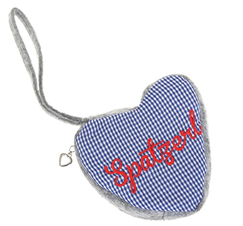 Dirndl Tasche PUNTA HERZ Herzl Trachtentasche Trachten Bag Mini Handtasche Oktoberfest (Blau)