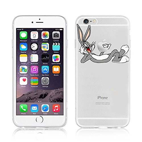 RONNEY'S Disney CARTOON Transparent TPU Soft case for Apple Iphone 7 BUNNY1