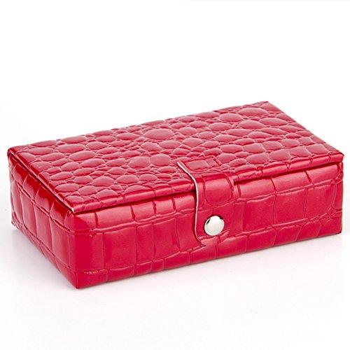 Mini Make-up Taschen, uxradg Frauen Schmuck Aufbewahrungsboxen, Display Box, Reisen Make Up Case Tasche für Frauen Mädchen Tasche für Geldbörse Lila Rosa Rose Rot (Display Case Speicher Box)