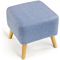 Comparador de precios Taburete de sofá Xuan - Worth Having Cambio Azul El Taburete del Taburete Taburete de Cama del Pato Corto de Madera sólida Simple (los 40 * 40cm) - precios baratos