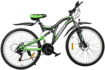 Cosmic Voyager 21 Speed Gear Bicycle, 26-inch (Black/Green)