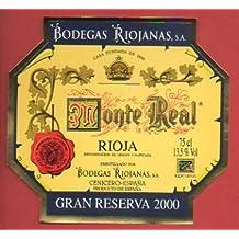 Etiqueta: MONTE REAL. Gran Reserva 2000.