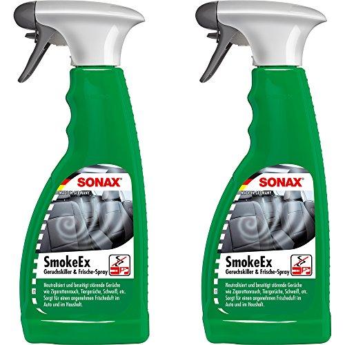 Preisvergleich Produktbild PRAKTISCHES SET! 2 x 500 ml SONAX SMOKE EX Geruchskiller Frische-Spray Raumspray Geruchsentferner Geruchsneutralisierer