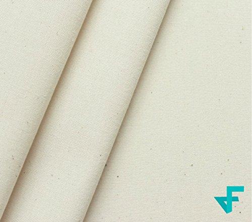 Fedano® Nessel Baumwoll-Stoff Meterware, Canvas Baumwolle Natur-Beige für Vorhänge/Kissenbezüge/Dekostoff - OEKO-TEX®- Standard 100 (Breite: 150 cm | Länge: 275 cm - mittelschwer, ca. 200 g/m²) (2.75)