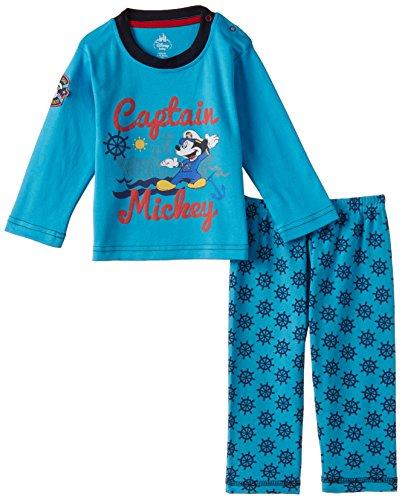First Baby Boys' Mickey Pyjama (Pack of 2) (FD2197_Light Sky_size-40)