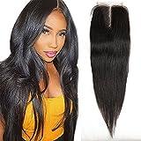 Wendy Hair 8A Brazilian gerade 4x 4mittleren Teil Frontal Hair Lace Closure 30,5cm bearbeitete Ohr zu Ohr Natural schwarz Baby Frontal Haarteil Bleichen Knoten Hair Extensions