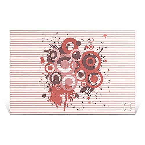 BANJADO Glas Magnettafel mit 4 Magneten   Magnetwand 90x60cm groß   Memoboard beschreibbar perfekt für die Küche   Magnetboard groß mit Motiv Pink Splash Pink Mit Einem Splash