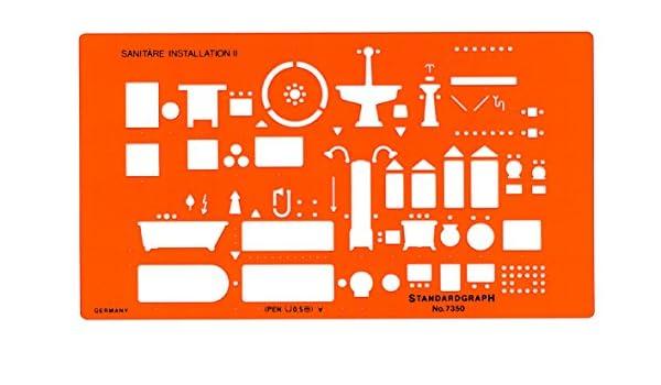 STANDARDGRAPH Trace sanitaires 1//100e mod/èle I Orange Transparent