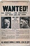 Wandschild Designer Schild Wanted vor dem Mörder Adolf Hittler Deko 20x30cm Nostalgie Metal Sign XSONS36WA