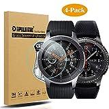 [4 Stück] Diruite für Samsung Galaxy Watch 46mm/Gear S3 Panzerglas Schutzfolie, HD Glas Displayschutzfolie für Samsung Galaxy 46mm Intelligente Uhr [Anti-Kratzen] [Anti-Öl] [Keine-Blasenfrei]
