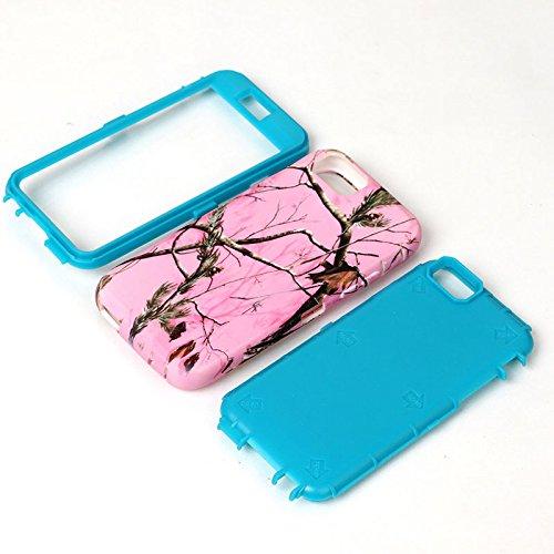 JNTworld iPhone 6 6s Case Motif Slim Dual Layer antichoc Couverture, bleu bleu
