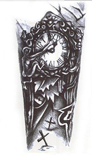 Hb-035 - flash tatoo in bianco e nero adesivo temporanei temporaneo corpo stickers gotik gotico orientale esotico tattoo adesivo foglio black and white oriente per uomo donna