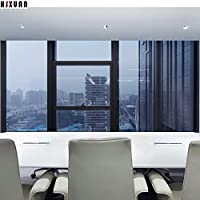 S.Twl.E Static Solar Film Thick Film Glass Balcony Doors Down-Sun Heat Check And9011,Out Blue,60Cm *1M Length)