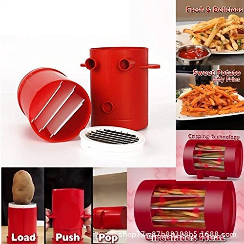 Poehxtyy macchina per patate fritte affetta verdure patate fritte maker cutter machine microonde contenitore 2-in-1 n. deep-fry to make healthy fries