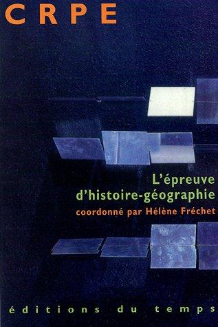 CRPE : L'épreuve d'histoire-géographie