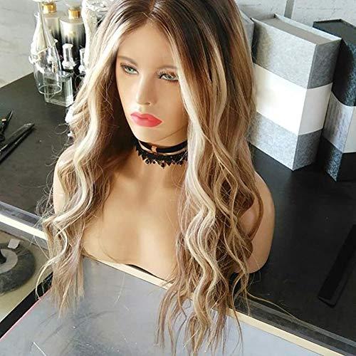 erücke, blond, mit Farbverlauf und gelockt, für Partys, Cosplay, Clubs, Bars, Festivals, Halloween, Kostüme Multi ()