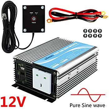 1000W pure sine wave AC power inverter 12V battery to