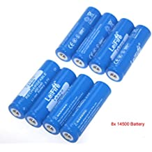 goodleifire® 8x 145003,7V NEU wiederaufladbarer Li-Ion Akku für LED-Taschenlampe