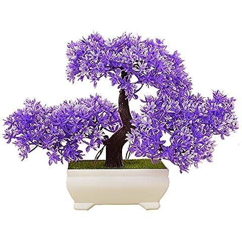 Dekorative Blumen Feng Shui Dekoration Home Decoration künstliche Blumen künstlicher Baum heiß Künstliche Simulation Begrüßen Kiefer (sehr viel Farbe) Wohnzimmer Kreative Dekorationen Büro w1 , purple