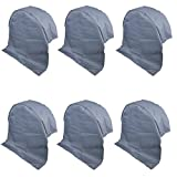 6X Wohnwagen Radabdeckung grau UV Schutz Polyestergewebe mit Anker Ösen