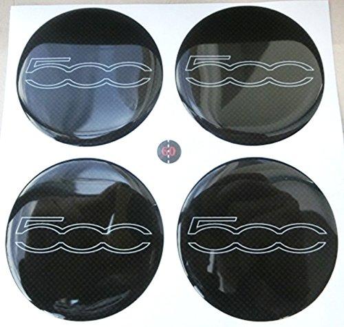 60mm Blanc Noir Tuning effet 3d 3m résine caches roues enjoliveurs Caps autocollants stickers pour jantes en alliage x 4pièces fonds effet carbone